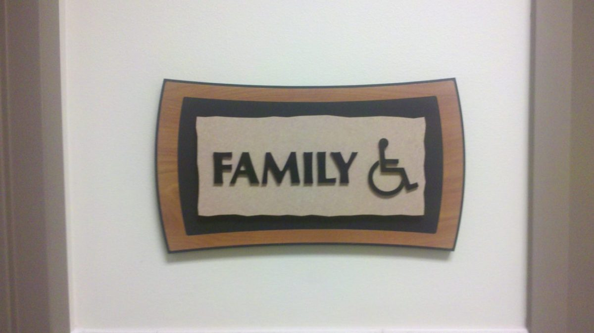 Routed PVC / laminate sign.
