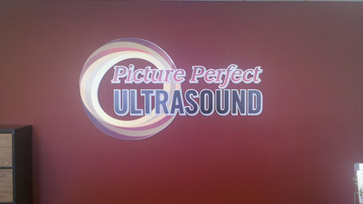 Routed PVC sign.