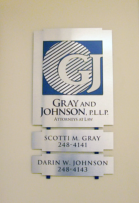 Routed ACM / PVC wall sign.