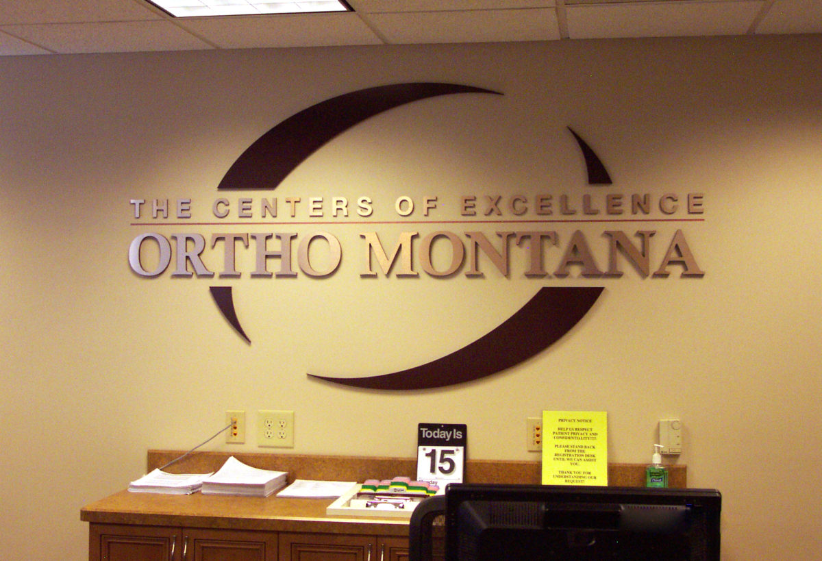 Laminated PVC letters and stetched fabric wall displays . Designed by Kinetic.