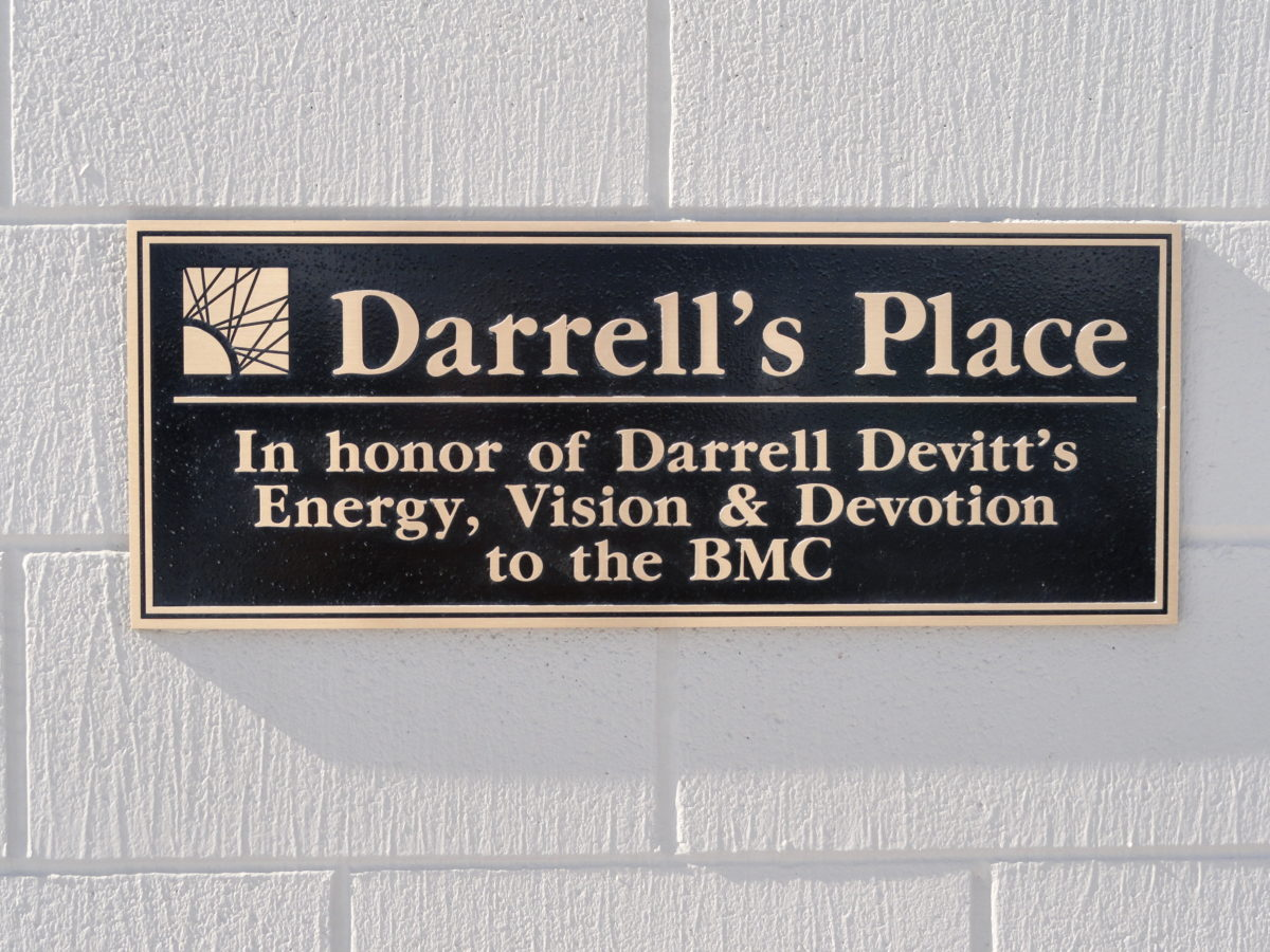 Cast bronze plaque.