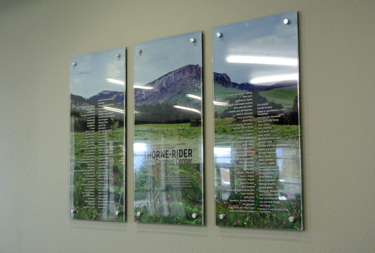 Custom wall display. Designed by CTA Architects/Engineers