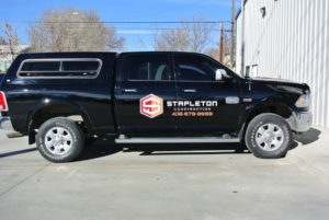 vehicle lettering business truck